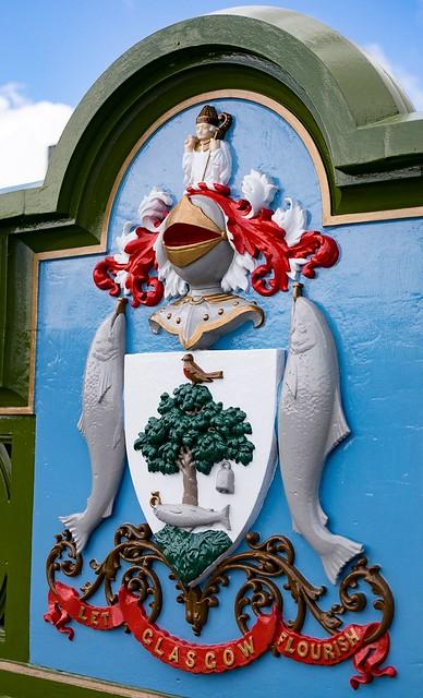 Restored Glasgow Coat of Arms. Albert Bridge.