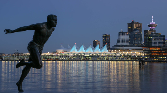 Harry Jerome Statue, Vancouver, BC Canada