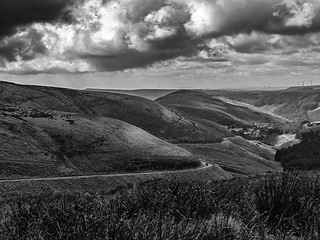 BW Looking down the Afan Valley 2 copy | by singingsnapper