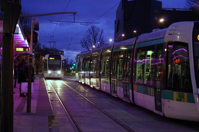 Paris f vrier 2013 le tram t3b porte des lilas 11 flickr photo sharing - Tramway porte des lilas ...
