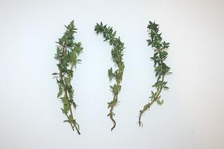 08 - Zutat Thymian / Ingredient thyme