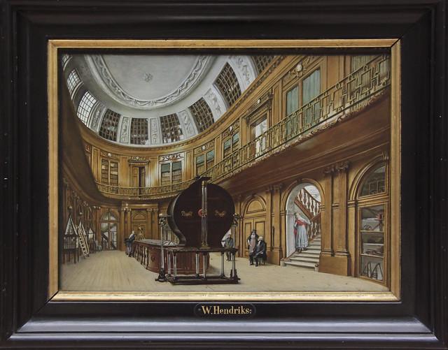 Interieur van de Ovale Zaal in Teylers Museum, Wybrand Hendriks 1819