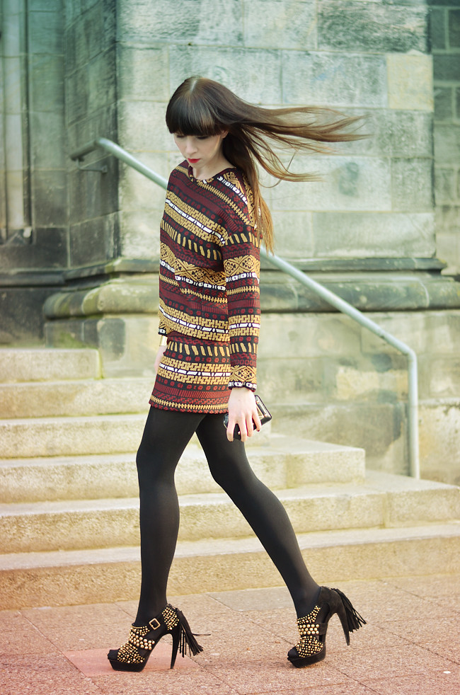Zara aztec pattern outfit CATS & DOGS Blog 2