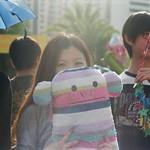 Hid Behind Her Rainbow Monkey