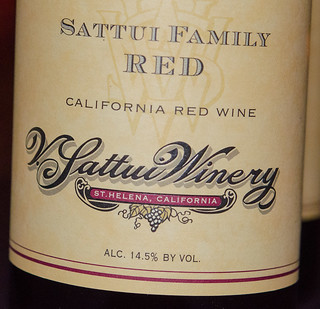 Label for Sattui Family Red, V. Sattui Winery