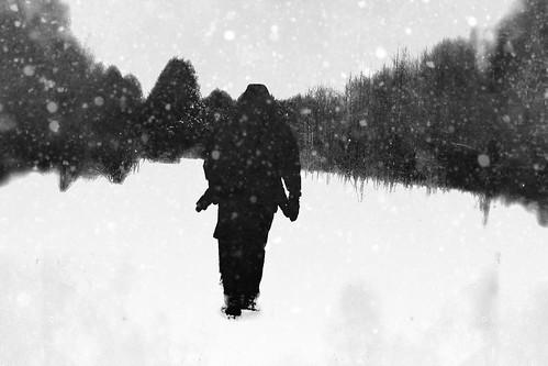 Walking in snow by @klawrenc
