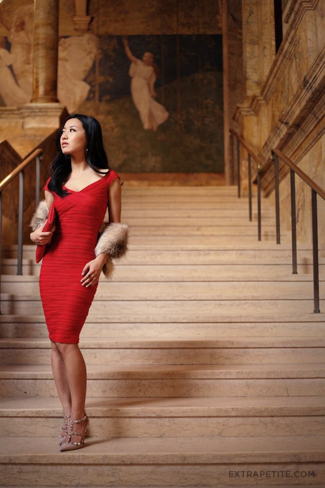asos red dress boston public library3