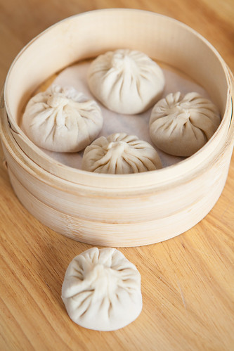 Soup dumpling or xiaolongbao (小笼包) - before steaming