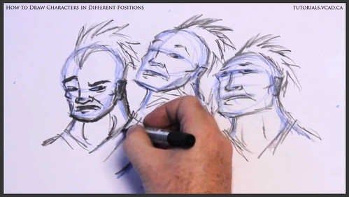 learn how to draw characters in different positions 021