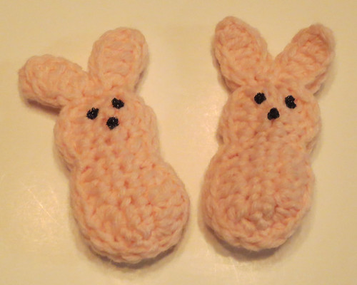 Crocheted Easter Eggs and Peeps My Recycled Bags.com