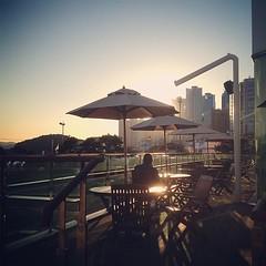 Cafe next to Haeundae beach.