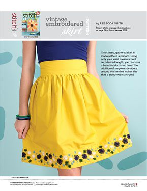 Project in Stitch Summer 2013! :) by Sew Festive