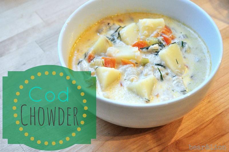 Cod chowder soup recipe for Fish soup recipe cod