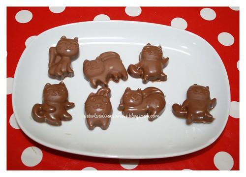 Chocolates de Leite gatinhos by Osbolosdasmanas