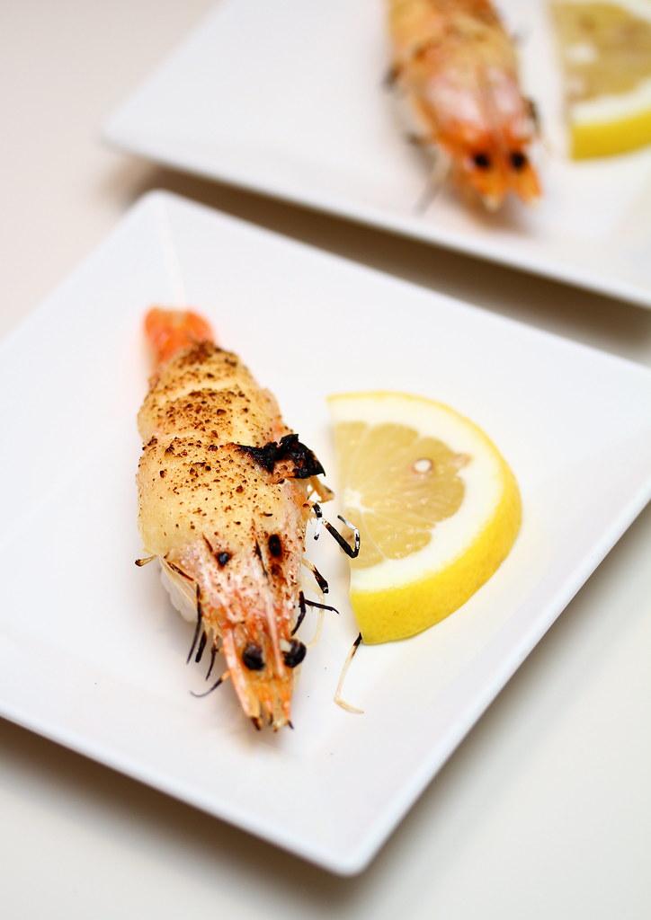 Genki Sushi's Cream Cheese Premium Shrimp Sushi