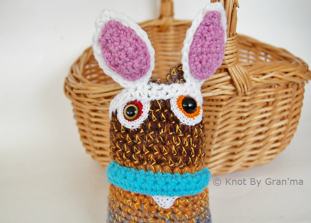 Ombre Bunny Monster Doll by Knot By Gran'ma