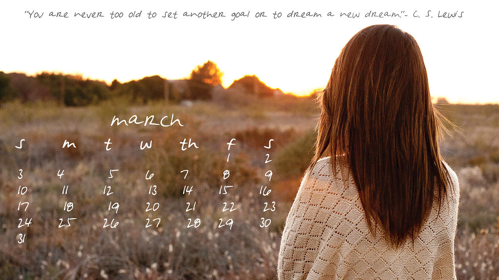 march 2013 free desktop calendar download