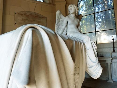 Fotografía del Ángel de Monteverde (Cementerio de San Isidro, Madrid)