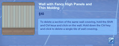 Wall with Fancy High Panels and Thin Molding