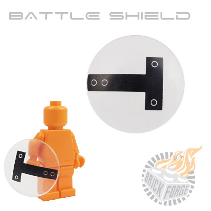 Battle Shield - Trans Clear (UK riot print)