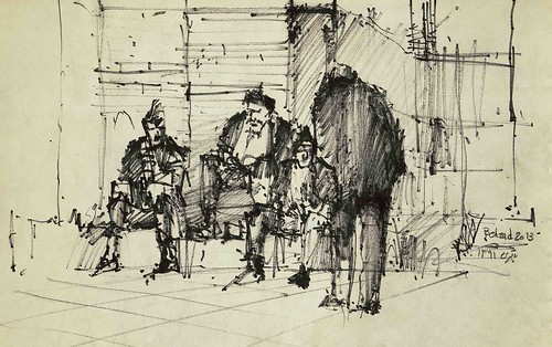 Bazaar- The Oldmen (5) by Behzad Bagheri Sketches