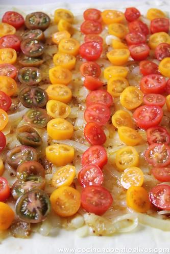 Tarta de tomate y queso de cabra. www.cocinandoentreolivos (9)