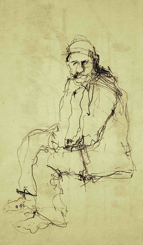Bazaar- The Oldmen (4) by Behzad Bagheri Sketches