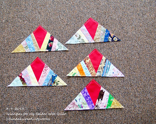 100_8308 - Triangles for my Spider Web Quilt - 3-9-2013