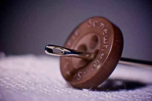 Needle & button