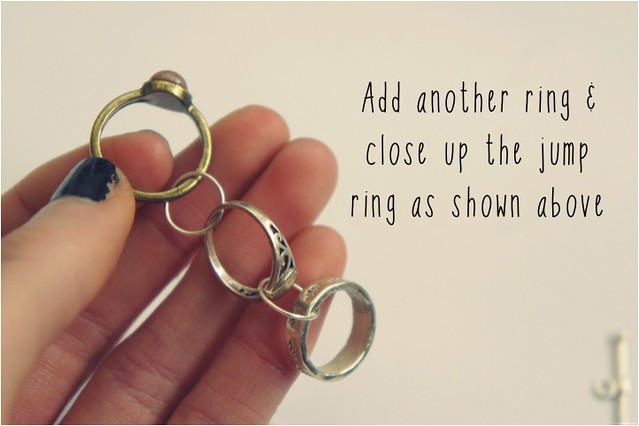 diy bracelet of rings 6