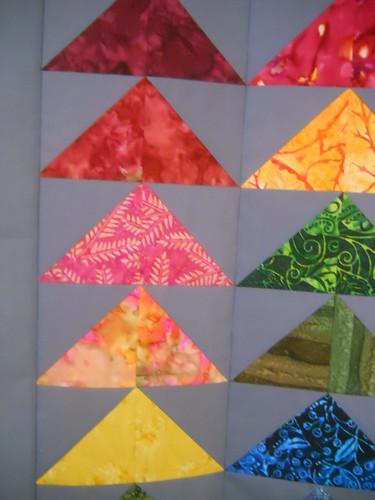 rainbow batik geese quilt 3