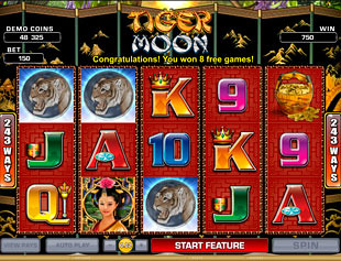 Tiger Moon Slot Bonus Free Games Feature