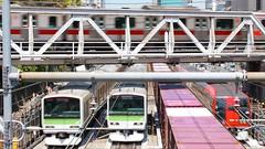 東急東横線とJR山手線・埼京線・貨物との立体交差