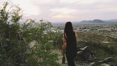 Catching the last light with Cheyna