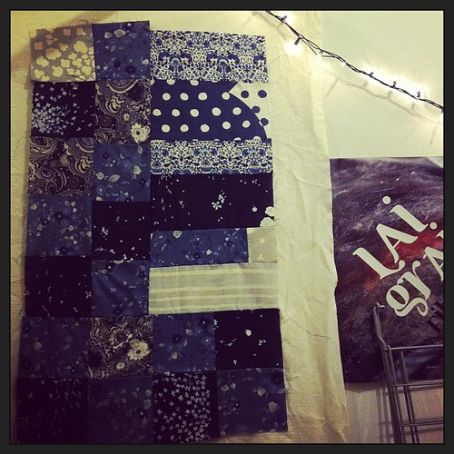 #quilt top so far. now to cut and sew more pieces.