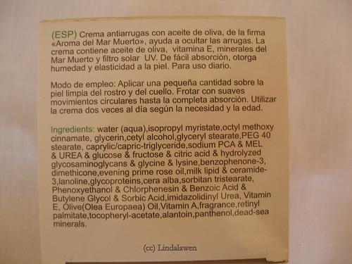 Cream antiarrugas de Aroma Dead Sea