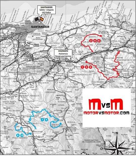 Recorrido Rallye Santander 2013
