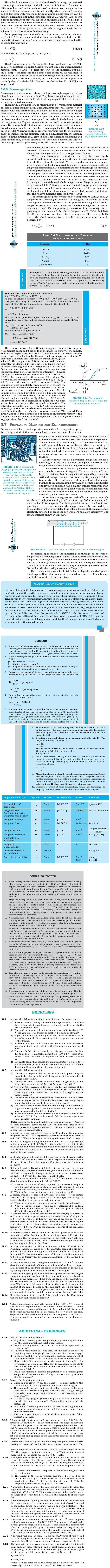 NCERT Class XII Physics Chapter 5 - Magnetism and Matter