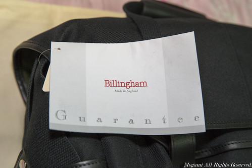 Billingham FibreNyte 307 吊牌 3
