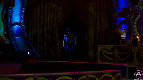 The ringmaster prepares to enter