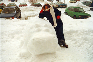 1979-02-19 - Charlene and a Snow Friend