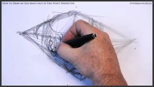 learn how to draw an old man's face in two point perspective 009