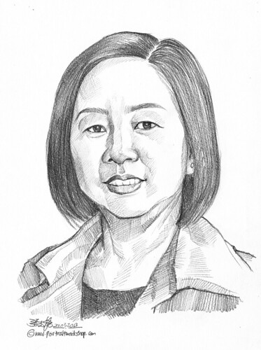 Pencil portrait for Chinese Swimming Club Sharong Heng - 27