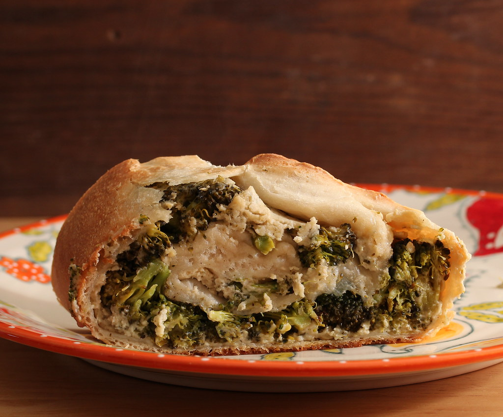 Vegan Roasted Broccoli Stromboli