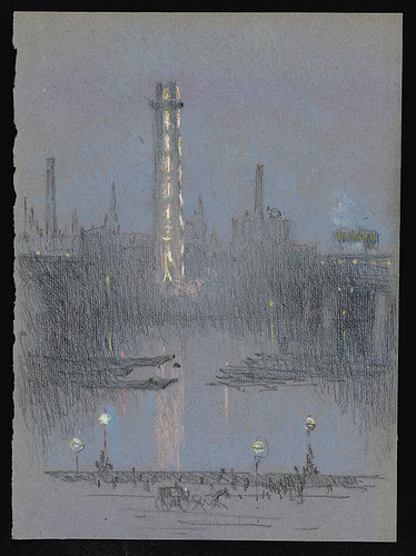 010- Torre en Londres-entre 1880 y 1926- Joseph Pennell-Library of Congress