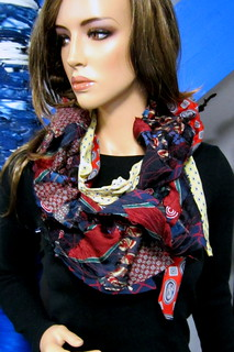 Custom Memorial Necktie Scarf 1