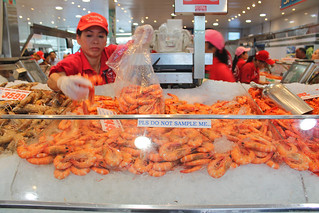 Sydney Fish Market 의 이미지. australia cookedshrimp sydneyfishmarket 4drew