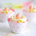 Gluten free Peach & custard cupcakes