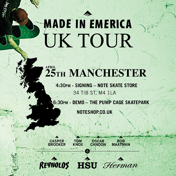Emerica UK tour in Manchester.
