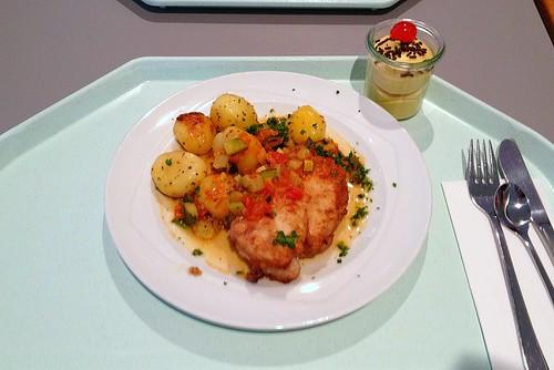 Hähnchenbrust mit provenzialischem Schmorgemüse